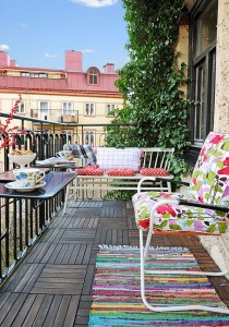 Idee colorate per il tuo balcone