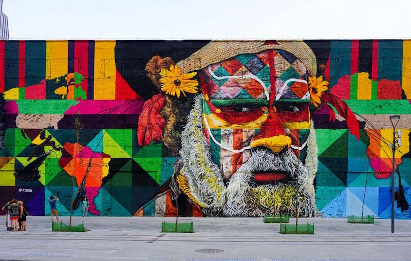 Street art da Guinness: Las Etnias murales più grande del mondo a Rio de Janeiro