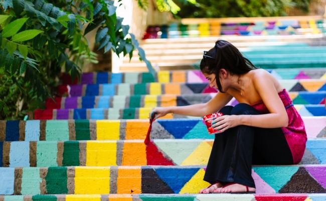 Le scale più belle e colorate del mondo