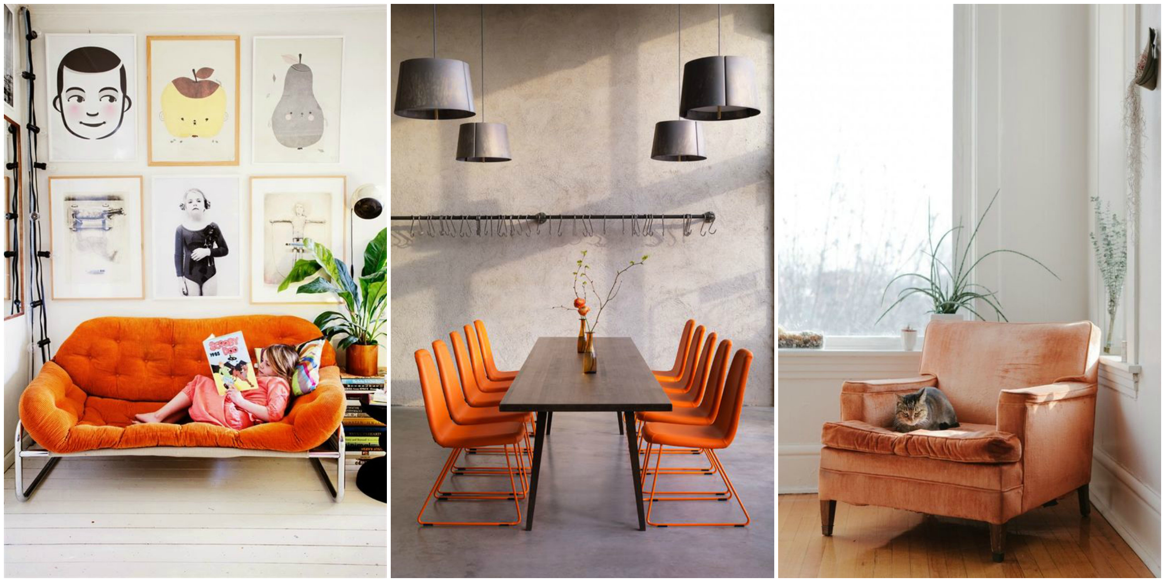 Arredamento casa: come utilizzare l'arancione