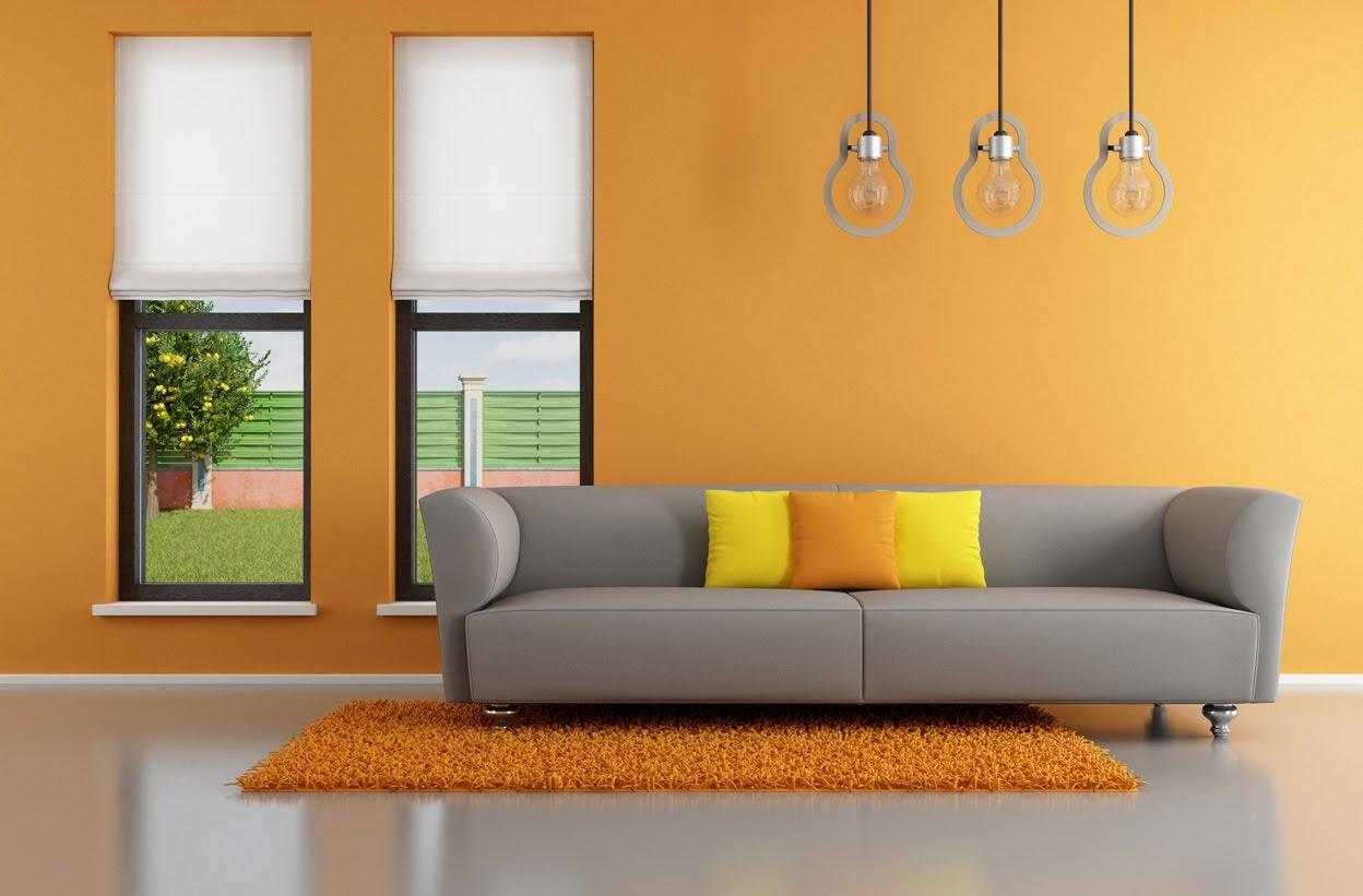 Arredamento casa come utilizzare l 39 arancione thesignofcolor - Nerolac paints shades for living room ...