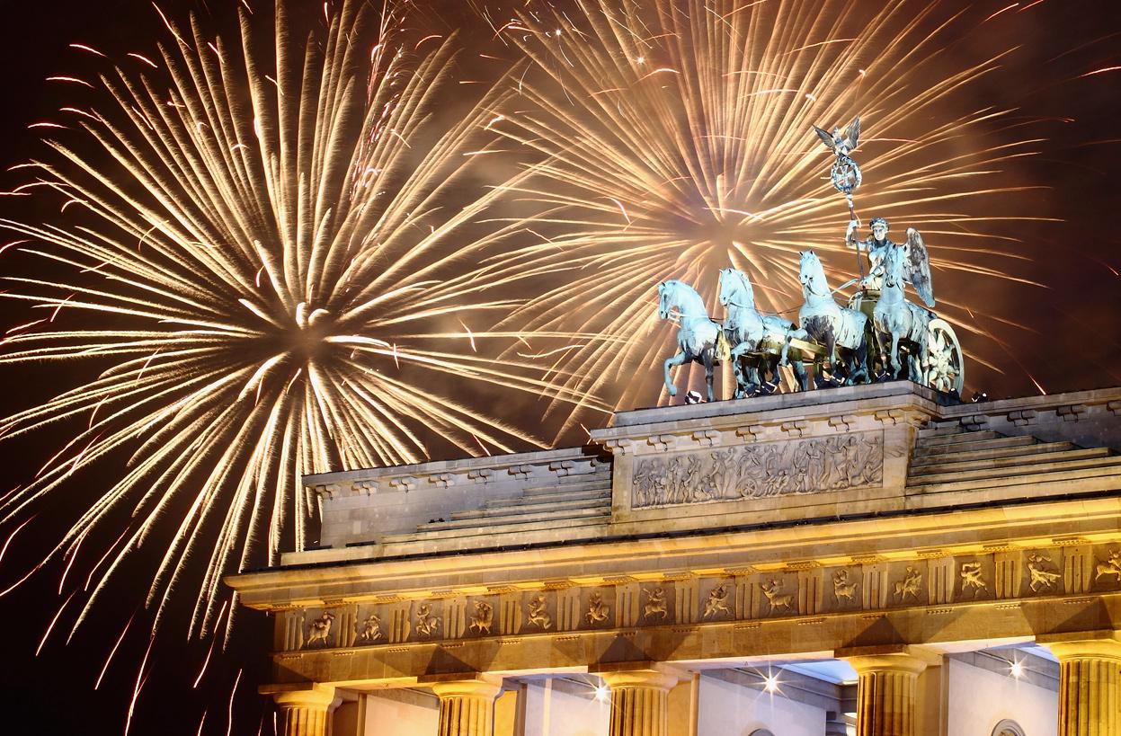 Capodanno: i fuochi d'artificio più belli del mondo - Berlino