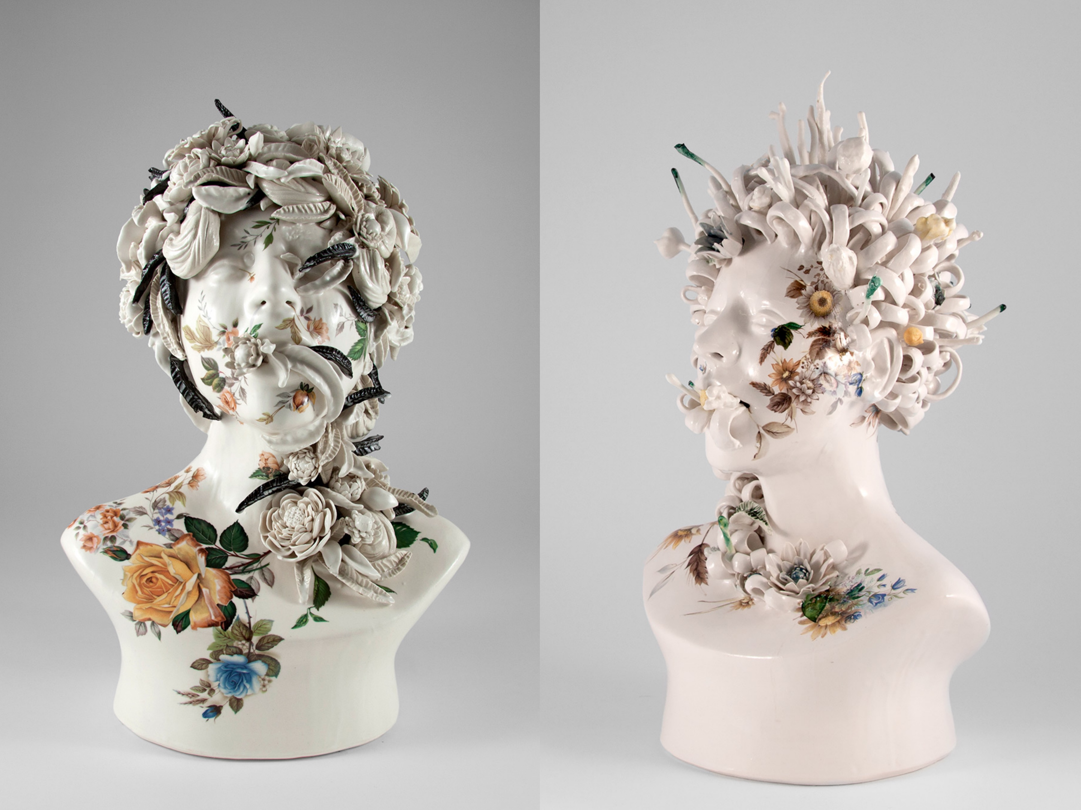 I busti in ceramica di Jess Riva Cooper