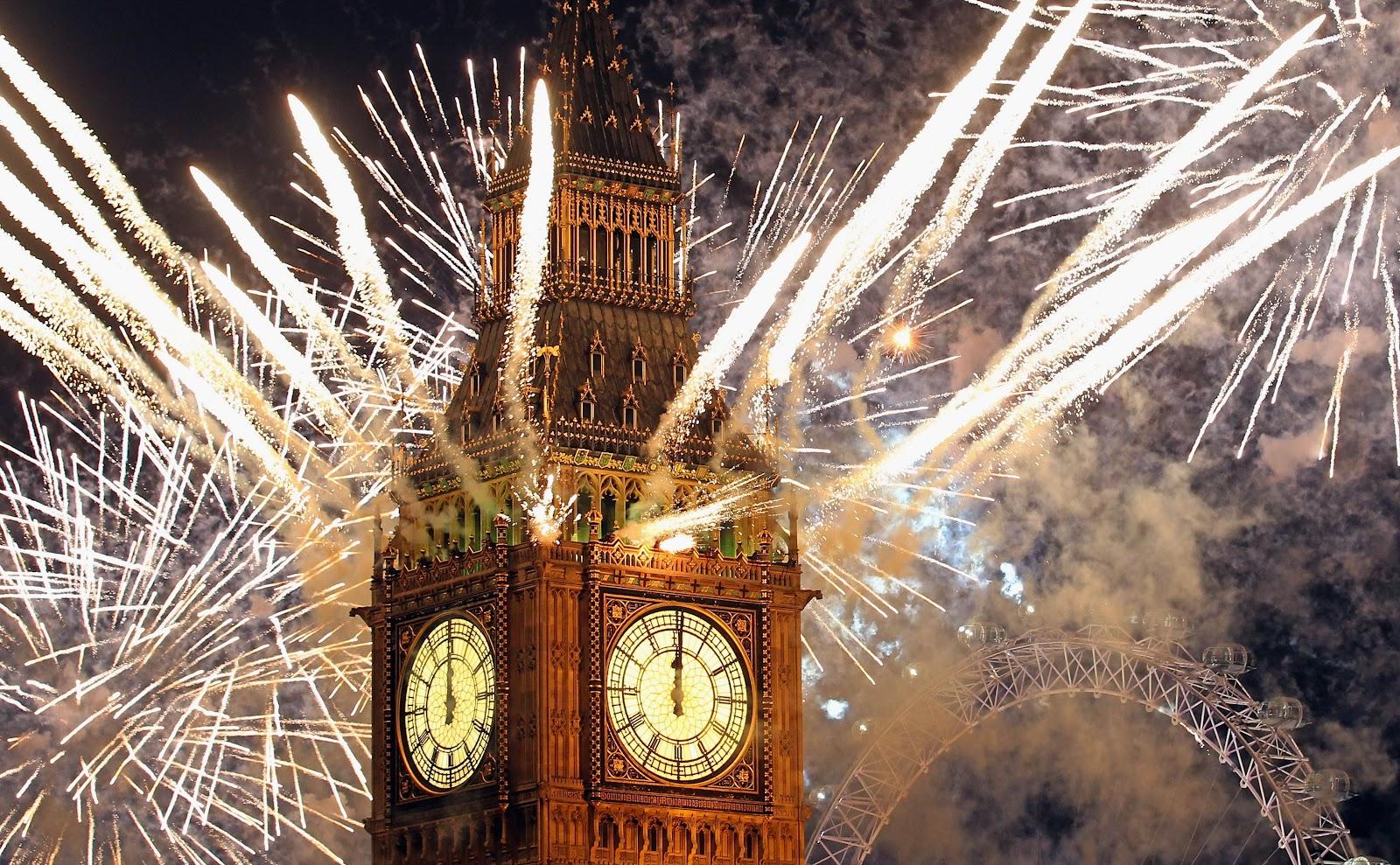 Capodanno: i fuochi d'artificio più belli del mondo - Londra