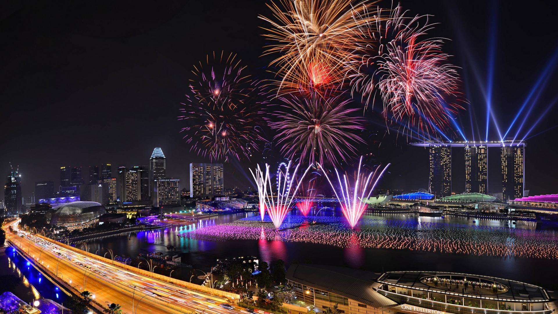 Capodanno: i fuochi d'artificio più belli del mondo - Singapore