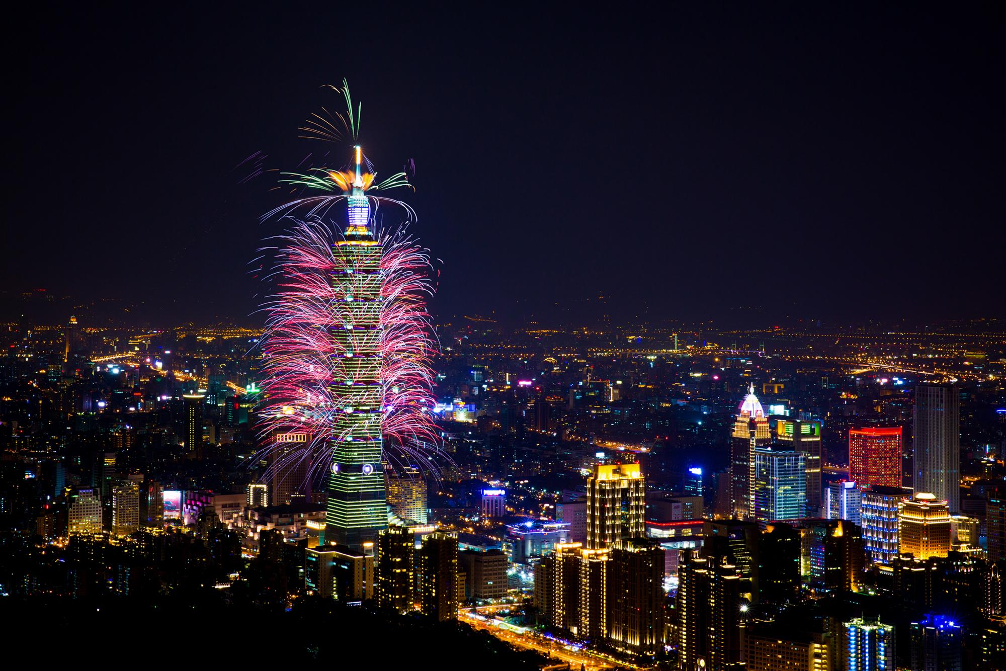 Capodanno: i fuochi d'artificio più belli del mondo - Taipei