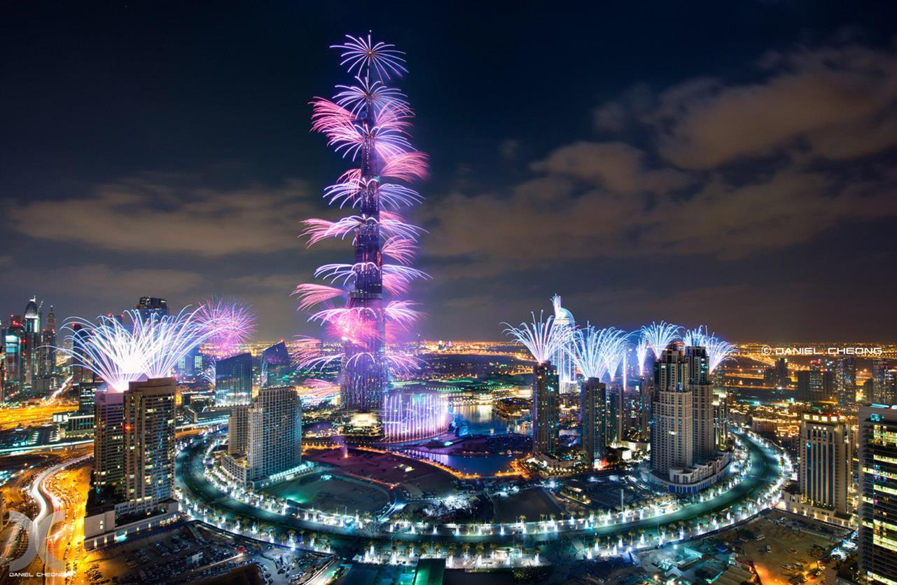 Capodanno: i fuochi d'artificio più belli del mondo - Dubai