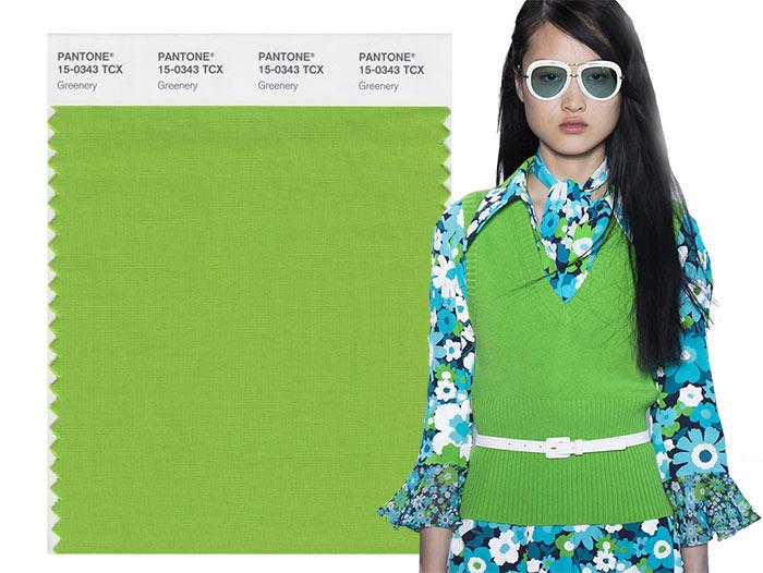 Tendenze moda primavera/estate 2017: i colori secondo Pantone Greenery 15-0343