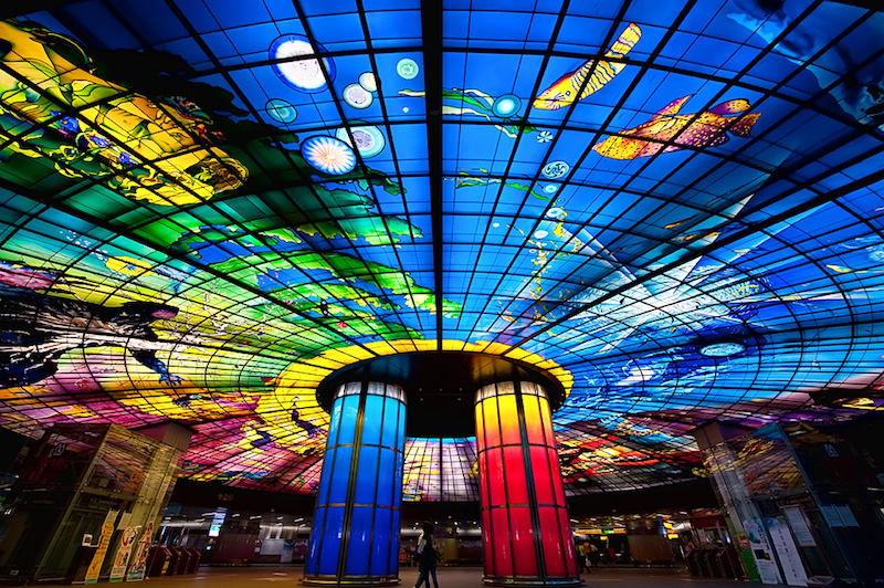 L'arte in metropolitana: le stazioni più belle del mondo taiwan