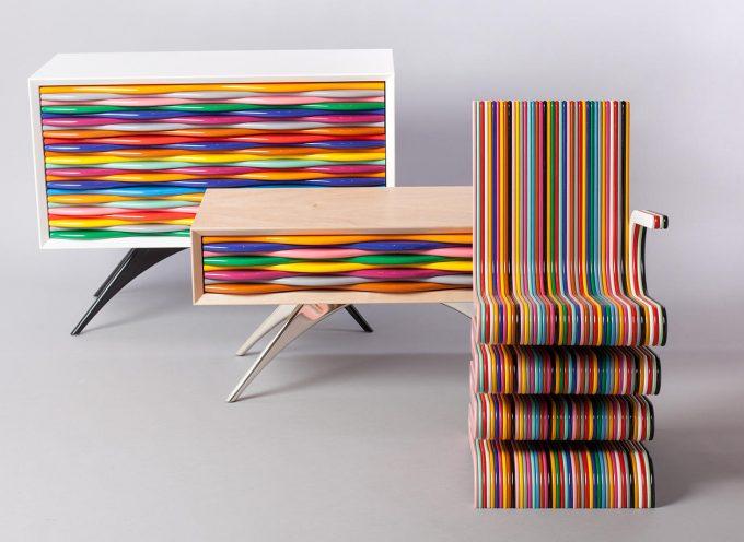 Design pop: mobili multicolor di Anthony Hartley