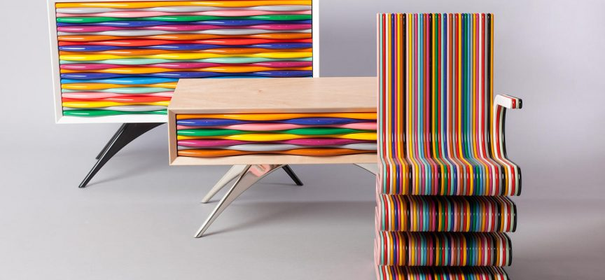 Design pop: mobili multicolor di Anthony Hartley