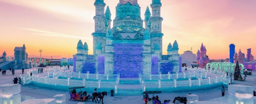 Le sculture di ghiaccio di Harbin
