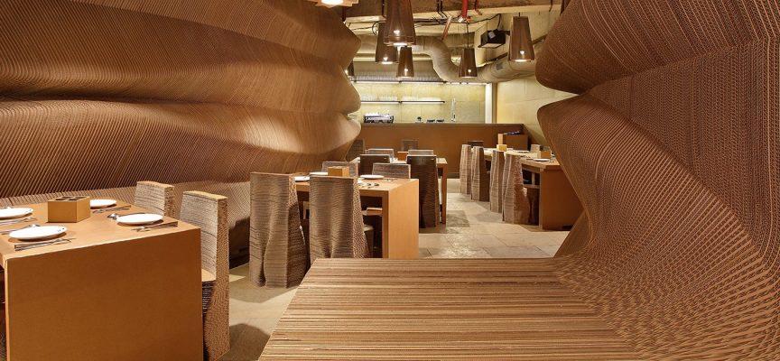 Cardboard, il ristorante di cartone