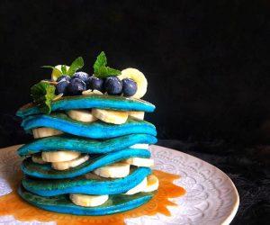 Pancake vegani all'alga spirulina