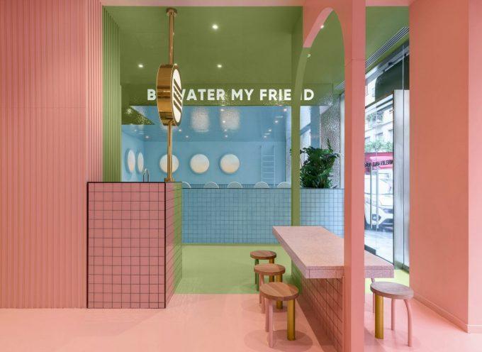 Colori pastello per l'interior design di Bun a Torino