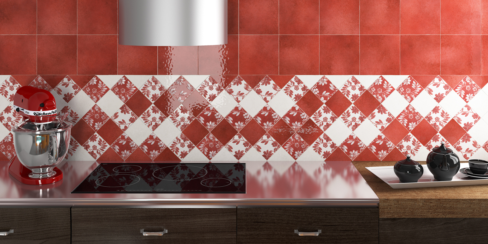 Ceramica un materiale ancora in grado di stupire thesignofcolor - Piastrelle cucina rosse ...